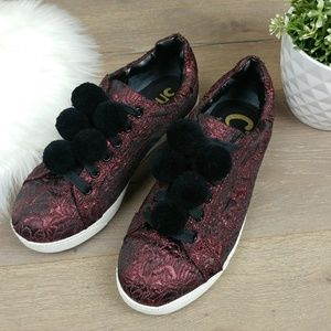 CIRCUS BY SAM EDELMAN BROCADE SNEAKERS 8WW